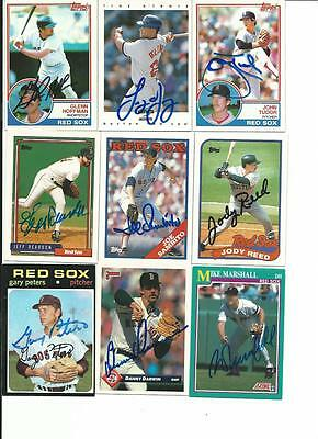 Boston   Red   Sox        9     Card   Autographed   Lot