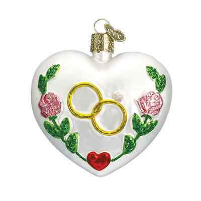"""Wedding Heart"" (30013) Old World Christmas Glass Ornament"