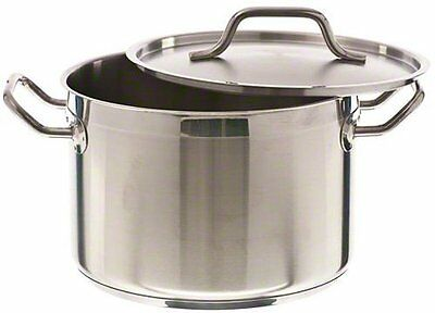Update International (SPS-8) 8 Qt Induction Ready Stainless Steel Stock Pot w/C