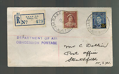 1942 Somers Royal Australia Air Force RAAF Cover to Strathfield