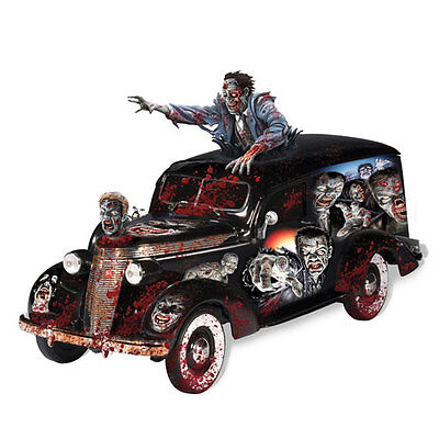 Rising Dead Hearse Car With Zombie Bradford Exchange