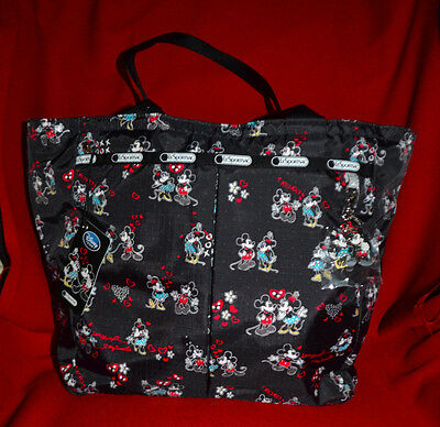 Disney LeSportsac Mickey Loves Minnie Everygirl Tote w zippered case   NWT