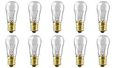 NEW Box of 10 Bulbs 6 Watt 12 Volt Screw Base E12 Clear 6S-6/12V