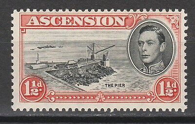 Ascension 1938 Kgvi The Pier 11/2D Variety Davit Flaw Perf 13
