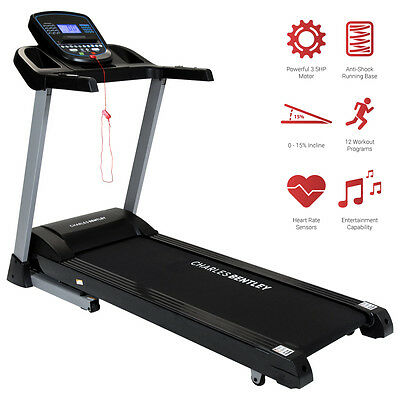 Charles Bentley Deluxe Motorised Electric Folding Treadmill 4HP 2625W