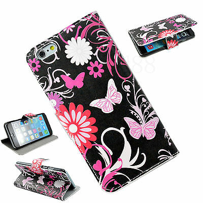 """Flip Leather Slot Card Wallet Phone Accessory Cover Case For Apple iPhone 6 4.7"""""""