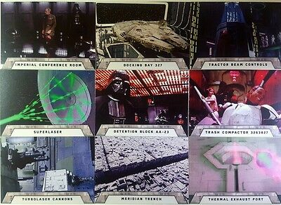 "STAR WARS Rogue One  MISSION BREIFING "" Death Star "" Sub set of 9  topps 2016"