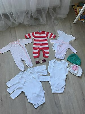baby girl clothes 0-3 months bundle Petite Bateau, Babyboo Baby