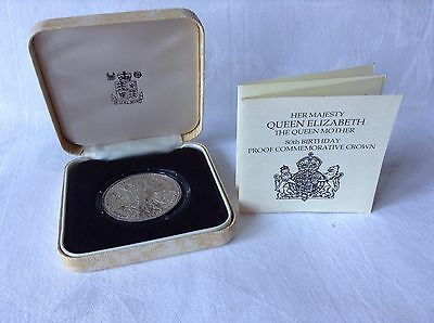 1980 Royal Mint Silver Proof Crown Coin The Queen Mother 80th Birthday .925 Silv