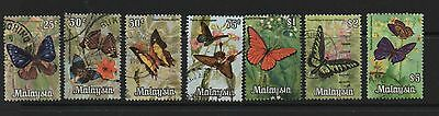 Malaysia 1970 Butterflies definitives SG64-71 fine used set stamps to $10