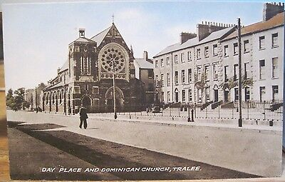 Irish Postcard DAY PLACE and DOMINICAN CHURCH Tralee County Kerry Ireland Color