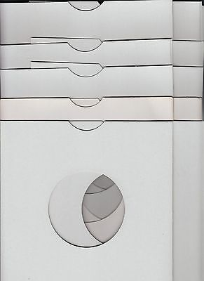 "Pack Of 10 White 7"" Cardboard Sleeves NM Cond"