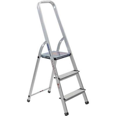 Peachy Draper Expert 3 Rung Tread Aluminium Step Ladder Steel Alphanode Cool Chair Designs And Ideas Alphanodeonline