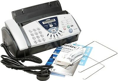Brother FAX-T106 Thermal Transfer Plain Paper Fax Machine With TAM OPEN BOX
