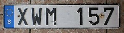 Sweden license plate - Swedish EU band - no sticker - one plate current style 1.