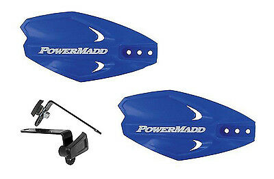 Powermadd Power X Series Handguards Guards Blue Mount Kit Motorcycle Scooter