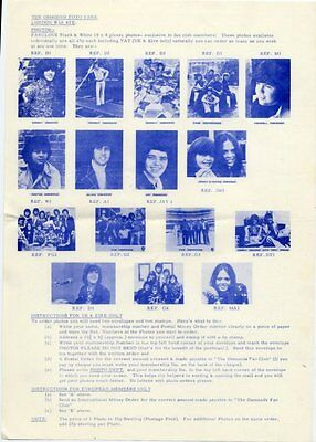 Osmonds The Official Fan Club Photos Flyer 193/4