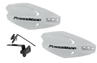 Powermadd Power X Series Handguards Guards White Mount Kit Motorcycle Scooter
