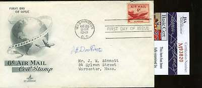 General Jimmy Doolittle Jsa Signed Fdc First Day Cover Authentic Autograph