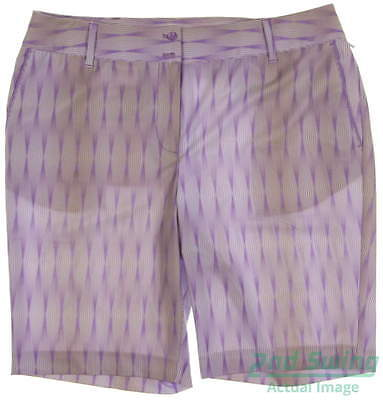 New Womens Cutter & Buck Golf Shorts Size 12 Multi MSRP $85