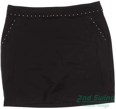 New Womens Greg Norman Golf Skort Size Medium M Black MSRP $80
