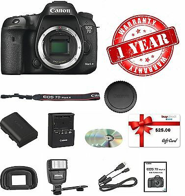Canon EOS 7D II Digital SLR Camera (Body) + LED LIGHT & $25 GIFT CARD Limited