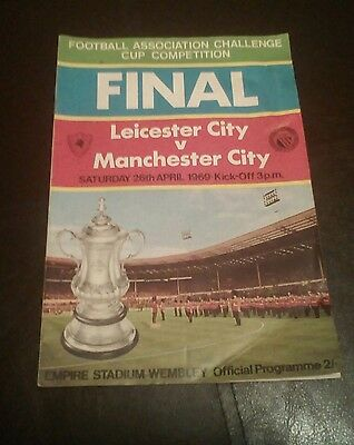 Leicester City v Manchester City 1969 Challenge Cup Final Football Programme