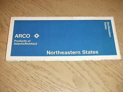 1971 Atlantic Richfield Northeastern States Highway Road Map ARCO Interstates