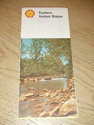 VINTAGE 1977 Shell Oil Gas Eastern United States Highway Road Map North & South