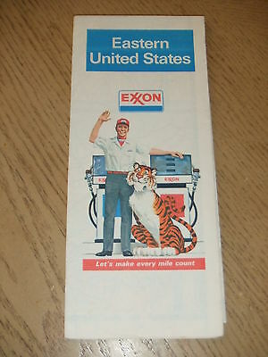 VINTAGE 1981 Exxon Oil Gas Eastern United States Highway Road Maps Tiger Toll Rd