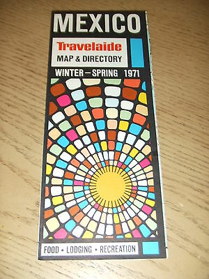 VINTAGE 1971 Travelaide MEXICO Map Guide Hotel Food Sights Directory Acapulco DF