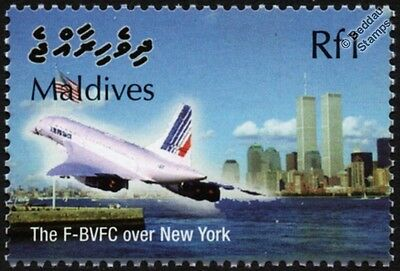 Air France CONCORDE F-BVFC (New York) Supersonic Airliner Aircraft Stamp