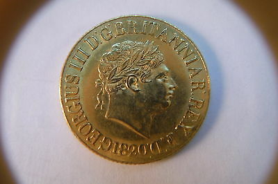 Rare 1820 Gold Sovereign With Short Date