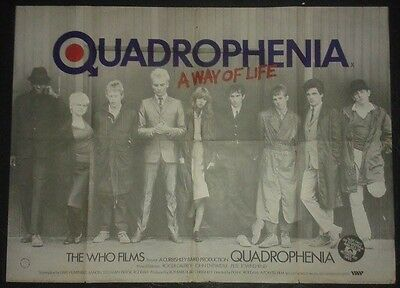 THE WHO QUADROPHENIA POSTER RARA LOCANDINA INGLESE ORIGINALE FILM 1979 101X76 cm