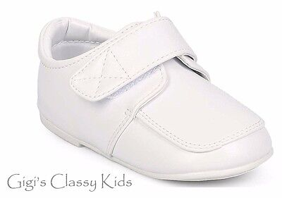 New Baby Toddler Boys White Dress Shoes Christening Baptism Dedication Formal