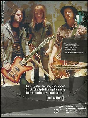The Almost Dusty Redmon Custom Delia First Act Guitar ad 8 x 11 advertisement