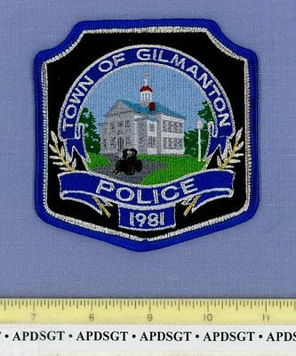 GILMANTON NEW HAMPSHIRE NH Sheriff Police Patch OLD HORSE DRAWN CARRIAGE MYLAR