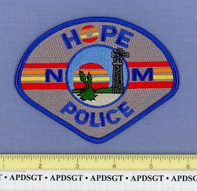 HOPE NEW MEXICO NM Sheriff Police Patch WINDMILL CENTURY PLANT
