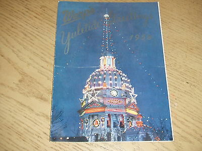 VINTAGE 1958 Warps Pioneer Village Christmas Newsletter Brochure Minden Nebraska