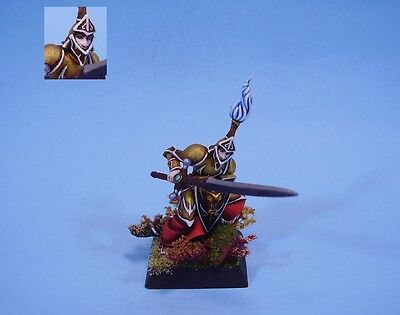 Confrontation painted miniature Swordsman of Alahan