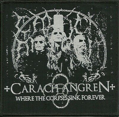 CARACH ANGREN-WHERE THE CORPSES SINK FOREVER-WOVEN PATCH-super rare