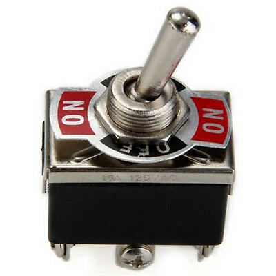 Hot 12V Heavy Duty Toggle Flick Switch ON/OFF Car Dash Light Metal SPST