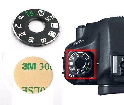 Top Cover Function Dial Model Button Label for Canon EOS 6D Digital Camera
