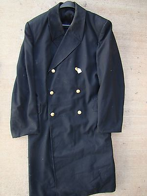 USSR CCCP SOVIET NAVY NAVAL OFFICER'S MID 80's DOUBLE BREASTED LIGHT OVERCOAT
