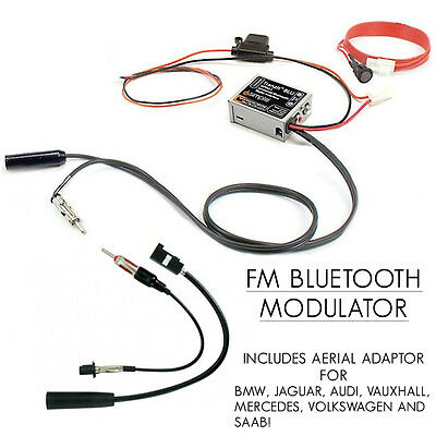 FAKRA Bluetooth FM-Modulator Vauxhall Ford Audi BMW Auto Musik Streaming Adapter