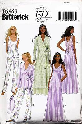 Butterick Sewing Pattern 5963 Misses Sz 14-22 Robe, Nightgown, Pyjama Pants, Top