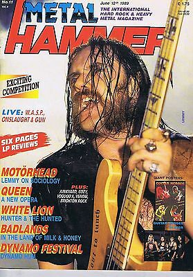 LEMMY MOTORHEAD / QUEEN / WHITE LION Metal Hammer Jun 12 1989