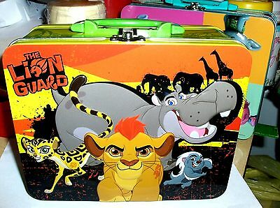 The Lion Guard`2016`Raised Front Graphics-School Metal Lunchbox`New->Free To US