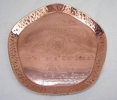 Vintage Copper Teacher's Highland Cream Whisky Tray