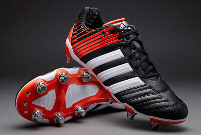 adidas Adipower Kakari SG Black White Red M29656 Rugby Boots Size UK 12.5